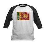 Sri Lanka Flag Kids Baseball Jersey