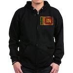 Sri Lanka Flag Zip Hoodie (dark)
