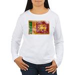 Sri Lanka Flag Women's Long Sleeve T-Shirt