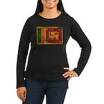 Sri Lanka Flag Women's Long Sleeve Dark T-Shirt