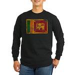 Sri Lanka Flag Long Sleeve Dark T-Shirt