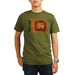Sri Lanka Flag Organic Men's T-Shirt (dark)