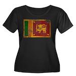Sri Lanka Flag Women's Plus Size Scoop Neck Dark T