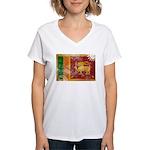 Sri Lanka Flag Women's V-Neck T-Shirt