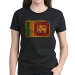 Sri Lanka Flag Women's Dark T-Shirt
