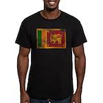 Sri Lanka Flag Men's Fitted T-Shirt (dark)