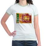 Sri Lanka Flag Jr. Ringer T-Shirt