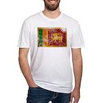 Sri Lanka Flag Fitted T-Shirt