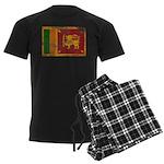 Sri Lanka Flag Men's Dark Pajamas