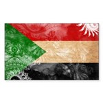 Sudan Flag Sticker (Rectangle 50 pk)