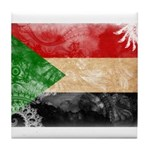 Sudan Flag Tile Coaster