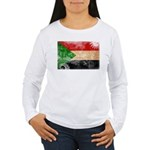 Sudan Flag Women's Long Sleeve T-Shirt