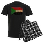 Sudan Flag Men's Dark Pajamas