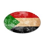 Sudan Flag 22x14 Oval Wall Peel