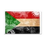 Sudan Flag Car Magnet 20 x 12