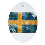 Sweden Flag Ornament (Oval)