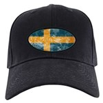 Sweden Flag Black Cap