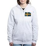 Sweden Flag Women's Zip Hoodie