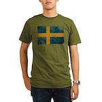 Sweden Flag Organic Men's T-Shirt (dark)