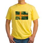 Sweden Flag Yellow T-Shirt