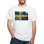 Sweden Flag White T-Shirt