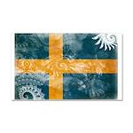 Sweden Flag Car Magnet 20 x 12