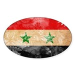 Syria Flag Sticker (Oval)