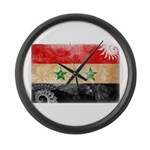 Syria Flag Large Wall Clock