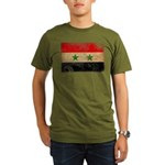 Syria Flag Organic Men's T-Shirt (dark)