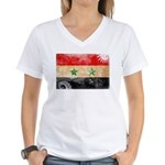 Syria Flag Women's V-Neck T-Shirt