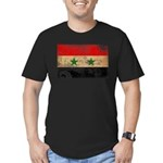 Syria Flag Men's Fitted T-Shirt (dark)