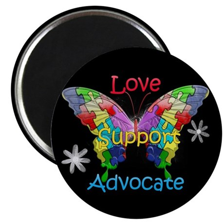 "Autism Awareness Butterfly 2.25"" Magnet (10 pack)"