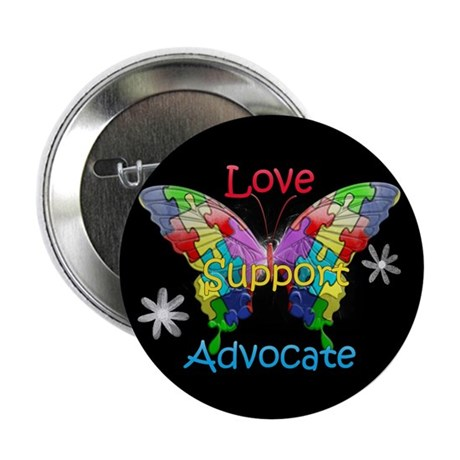 "Autism Awareness Butterfly 2.25"" Button (10 pack)"