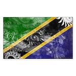 Tanzania Flag Sticker (Rectangle 50 pk)
