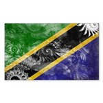 Tanzania Flag Sticker (Rectangle 10 pk)