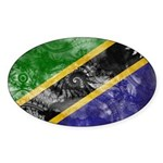 Tanzania Flag Sticker (Oval 50 pk)