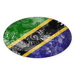 Tanzania Flag Sticker (Oval 10 pk)