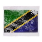 Tanzania Flag Throw Blanket