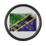 Tanzania Flag Large Wall Clock