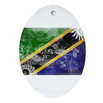 Tanzania Flag Ornament (Oval)