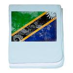 Tanzania Flag baby blanket