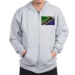 Tanzania Flag Zip Hoodie