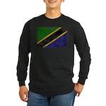 Tanzania Flag Long Sleeve Dark T-Shirt
