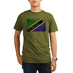Tanzania Flag Organic Men's T-Shirt (dark)