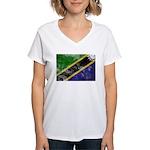 Tanzania Flag Women's V-Neck T-Shirt