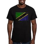 Tanzania Flag Men's Fitted T-Shirt (dark)