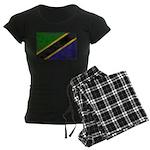 Tanzania Flag Women's Dark Pajamas