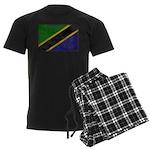 Tanzania Flag Men's Dark Pajamas
