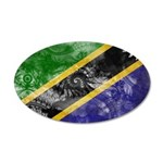 Tanzania Flag 38.5 x 24.5 Oval Wall Peel