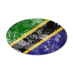 Tanzania Flag 22x14 Oval Wall Peel